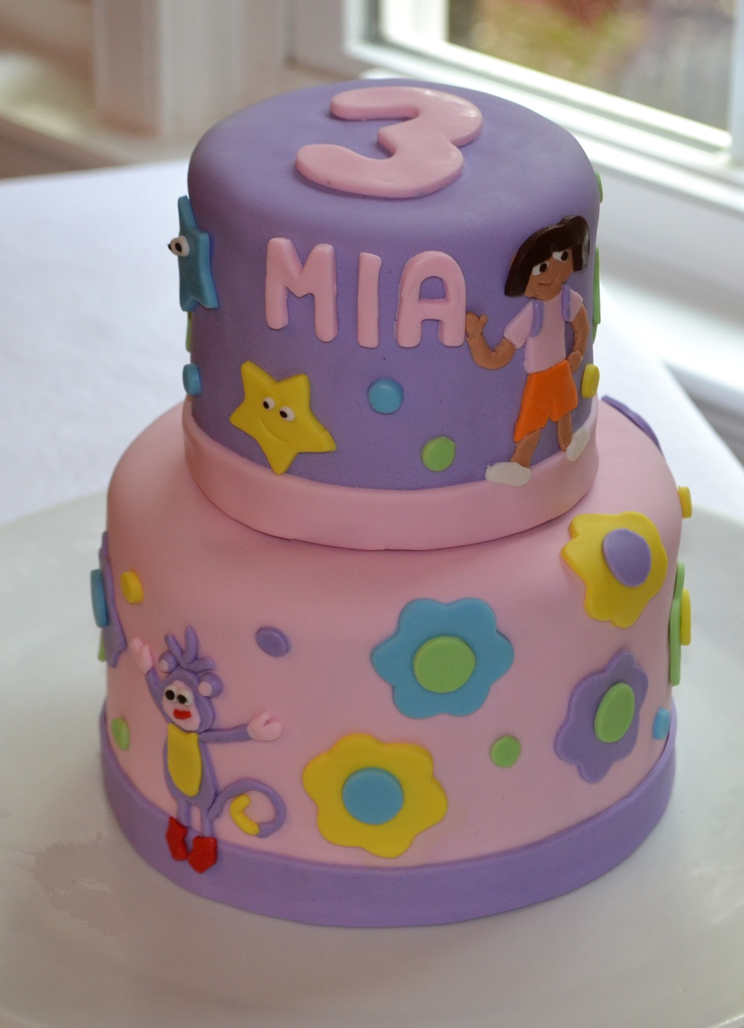 Cake Designs Dora The Explorer : Dora the Explorer Birthday Cake
