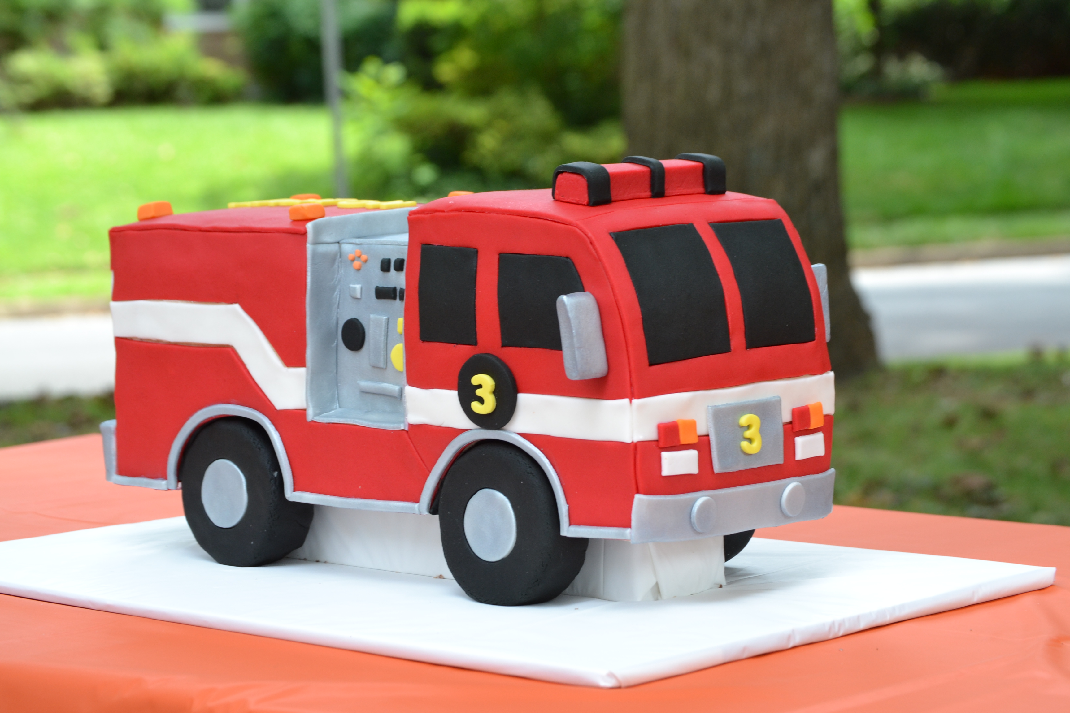 Tremendous Fire Truck Birthday Cake Personalised Birthday Cards Arneslily Jamesorg