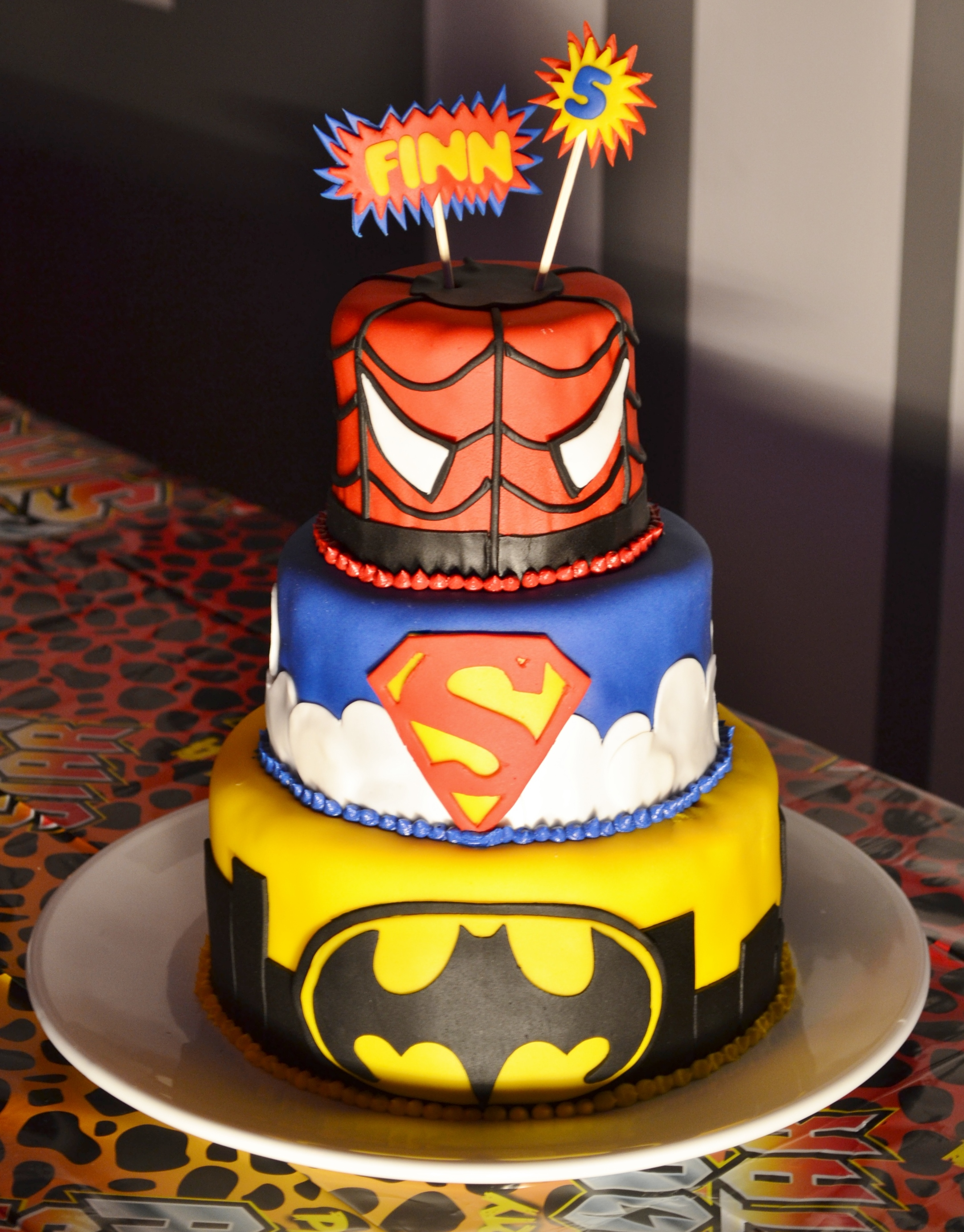 Birthday Cake Images For 5 Year Old Boy : Superhero 5th Birthday