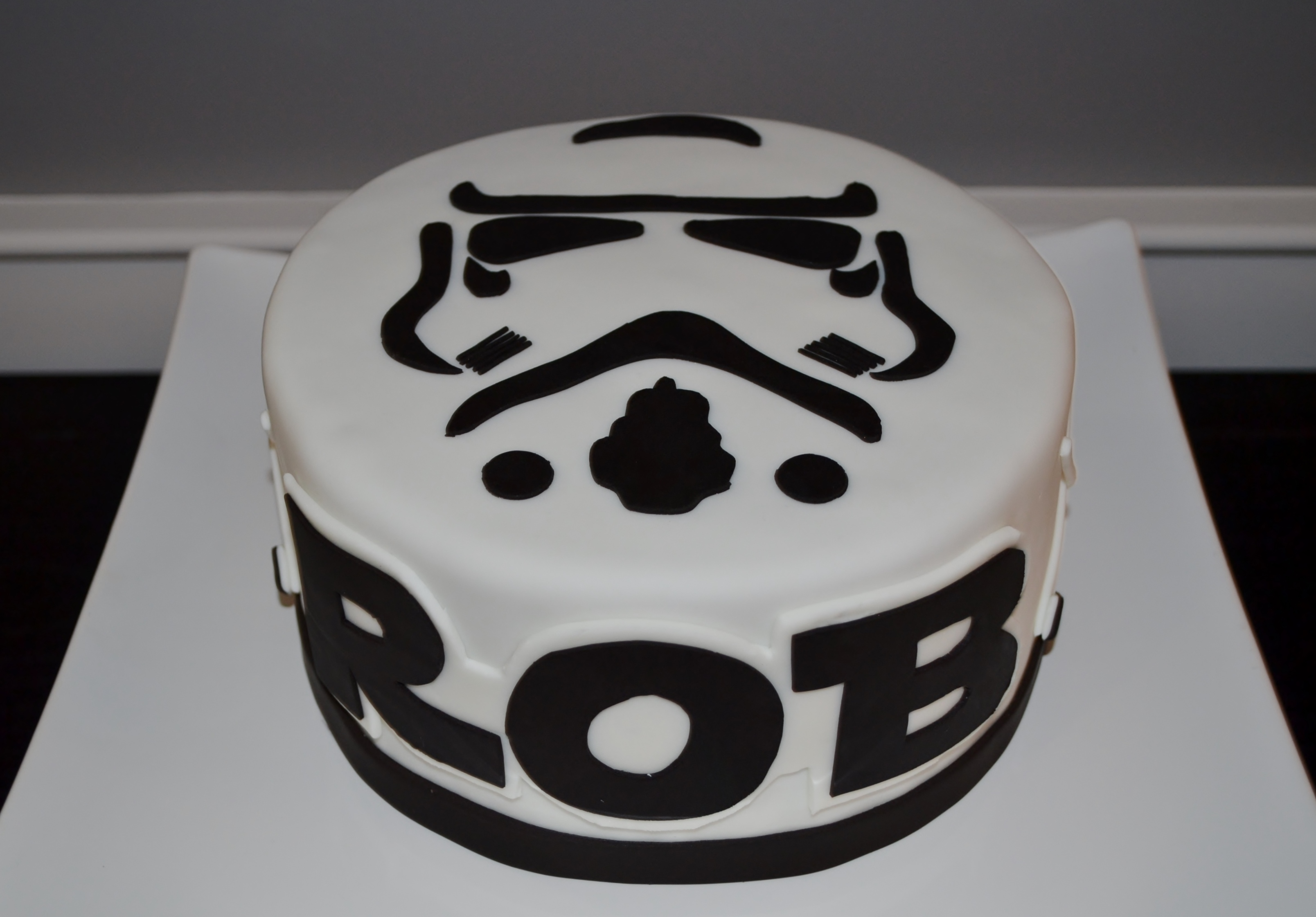 Sensational Storm Trooper Cake Personalised Birthday Cards Paralily Jamesorg