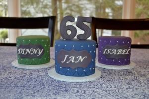 65th mini cakes