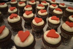 valentines day mini cupcakes