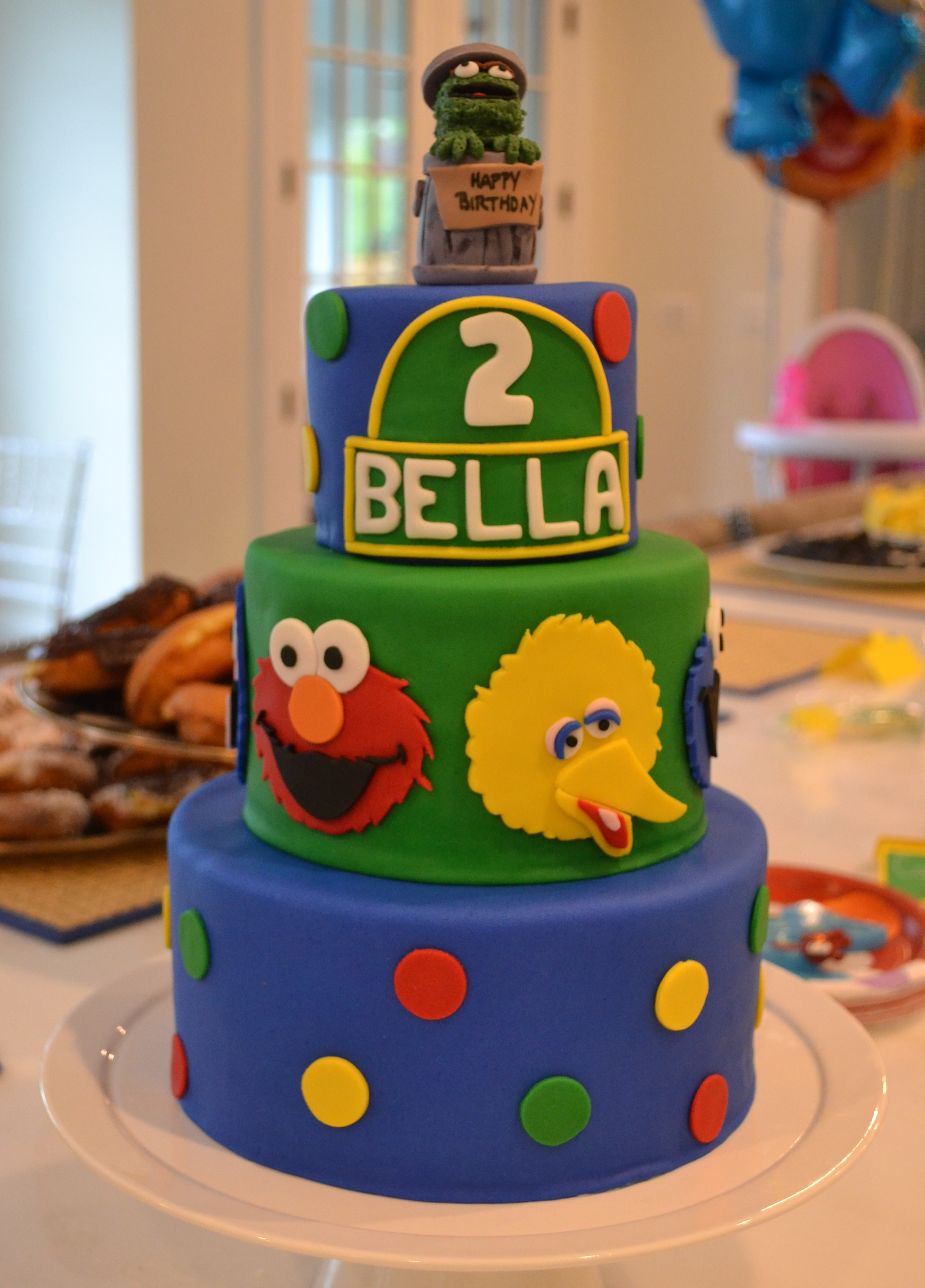 Groovy Sesame Street Cake Personalised Birthday Cards Paralily Jamesorg