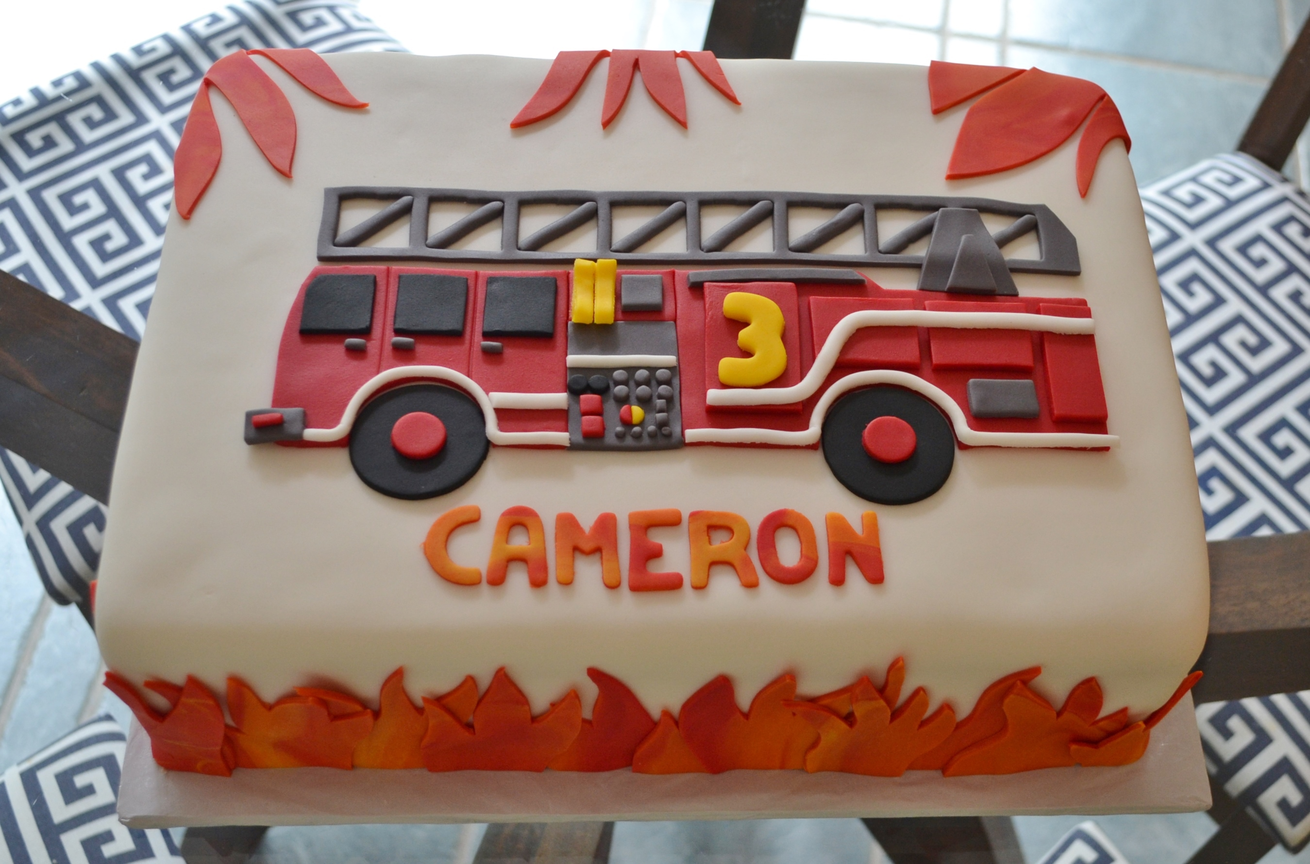 Brilliant Firetruck Cake Iii Birthday Cards Printable Benkemecafe Filternl