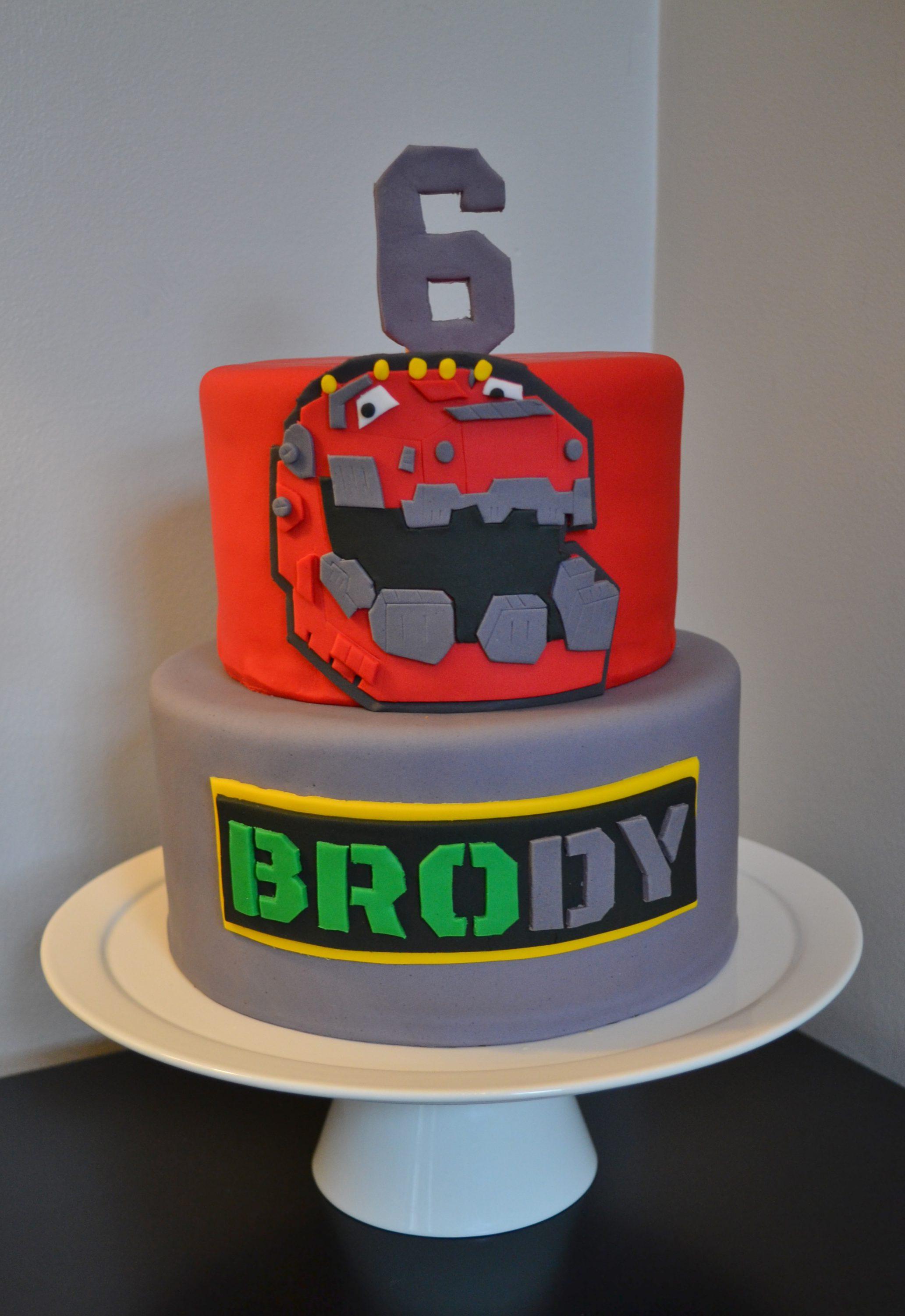 Dinotrux Cake